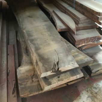 fresh cuts of marri timber