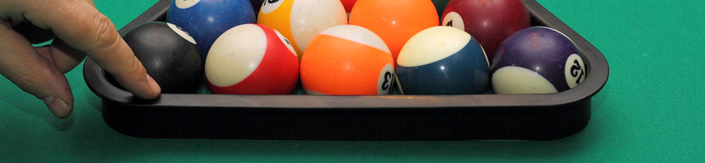 Breaking the triangle up at the start of a game of pool