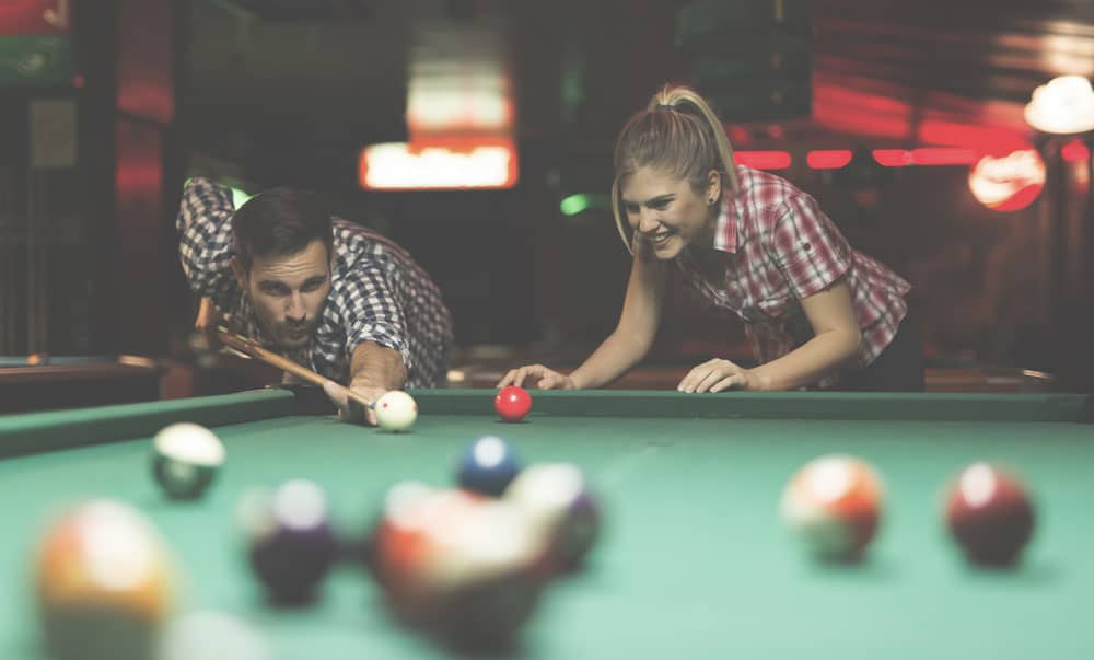 A social game of pool at the pub.