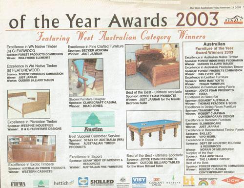 Awards 2003