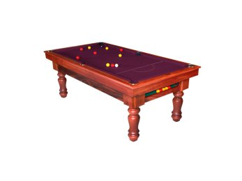 "Lifestyle ""Traditional Ball Return"" Quedos Pool Tables with Purple Cloth"