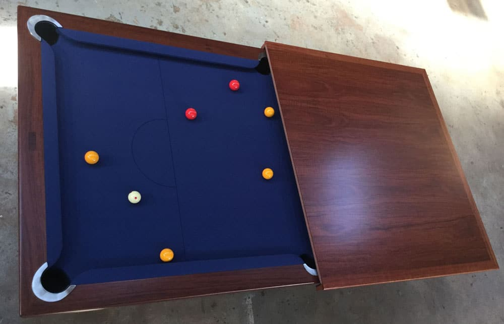 The Entertainer pool table; ready to be sent to a customer