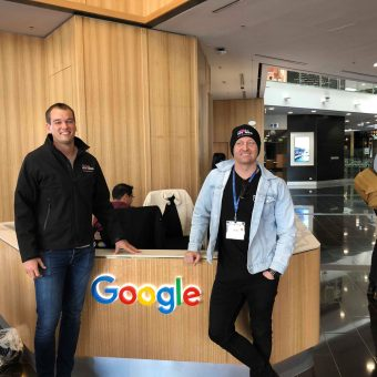 Levi and Brad visiting the google office in Sydney Australia.