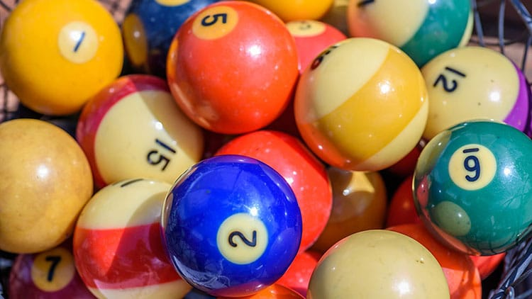 vintage billiard ball collection